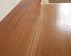 Bancada cozinha madeira maciça de mogno